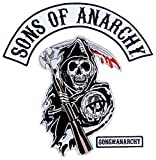 Sons of Anarchy Text and Arched Reaper Logo Patch Set Kids サン オブ アナーキー ロゴ パッチ セット (キッズ) [並行輸入品]