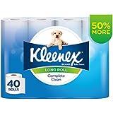 Kleenex Complete Clean Long Roll Toilet Paper (Pack of 40)