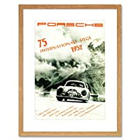 Sport Event Ad Motor Race Rally Car Picture Framed Wall Art Print スポーツモーターレース画像壁