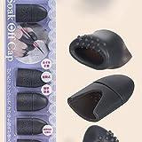 RaiFu ネイルポリッシュリムーバー ラップ シリコーン マニキュアネイルアートツール 再使用可能 uvゲルポリッシュリムーバーキャップ ヒント キャップクリップを浸してください ブラック
