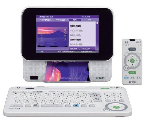 EPSON Colorio me コンパクトプリンター E-810 7.0型TFTカラー液晶 はがき作成機能 デジタルフォトフレーム機能 4色染料インク / エプソン