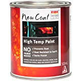 New Coat High Temp Paint 500ml | Restores That Brand New, Satin Black Finish to stoves, flues and BBQs | Perfect for Heat-Exposed Metal That's Rusting or Needing a New Coat