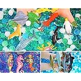 SENSORY4U Ocean Water Beads Sensory Bin Therapy Kits - 3 Dew Drop Sets Included - Ocean Explorers, Mermaid Lagoon and Swimmin
