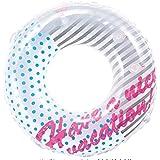 ヒオキ 浮き輪 ホワイトバケーションウキワ(空気栓大付) サイズ:90cm
