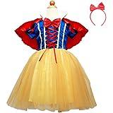 (RONGUI) 白雪姫 風 子供用 衣装 キッズコスチューム 女の子 (110cm)