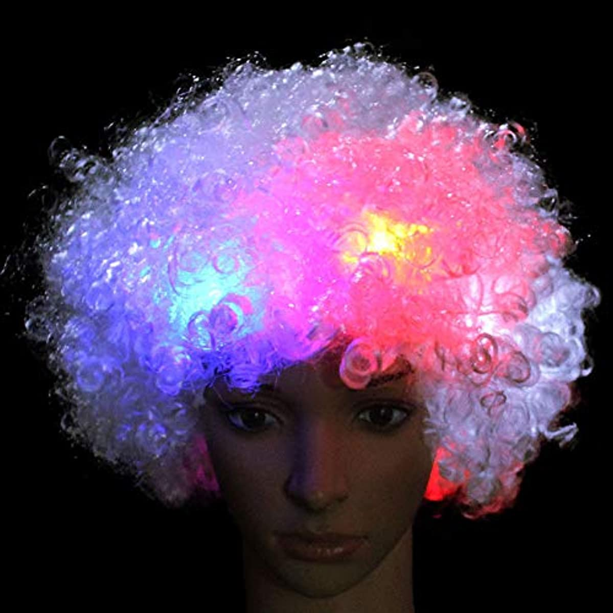 蒸留するスピーカー不測の事態Fenghong 主導かつら クール かつら with 多色 LED いたずら 装飾
