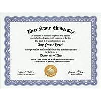 Deer Degree: Custom Gag Diploma Doctorate Certificate (Funny Customized Joke Gift - Novelty Item) by GD Novelty Items [並行輸入品]