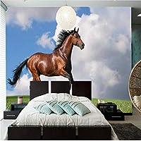 カスタム壁紙馬草雲動物写真壁紙、リビングルームテレビソファ背景寝室PapelデParede-280X200Cm