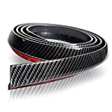 言の葉 モール ゴムリップスポイラーユニバーサルフロント リップスポイラー炭素繊維2.5メートルの車のフロントリップ - リップスポイラー汎用、防水100%