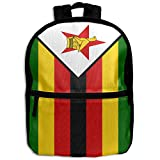 Chunlei子スクールバッグジンバブエの国旗面白いキッズ旅行バックパック学生バックパックガールズBookバッグファスナー
