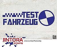 JINTORA ステッカー/カーステッカー - Test Vehicle - Collision Test Dummy - 試験車両 - 衝突試験ダミー - 190x60mm - JDM/Die cut - 車/ウィンドウ/ラップトップ/ウィンドウ- ブルー