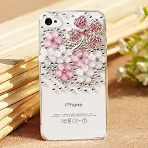 iPhone5sケース キラキラ (1つクローバーピンク, iphone5s/5用)