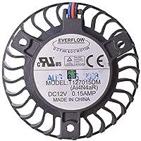 39mm t127015dm 12V 0.15A 3ワイヤEverflow for Asus 9600GTビデオファン