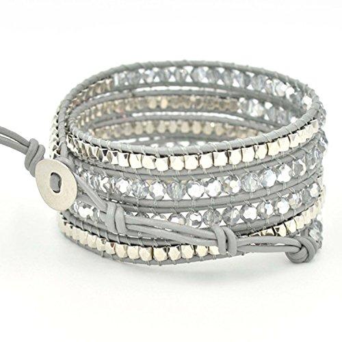 [해외]Baby-mine (베이비 마인) 5 연속 팔찌 랩 팔찌 여성 남성 크리스탈 스톤/Baby-mine (Baby Mine) 5 consecutive bracelet wrap brace Women`s men`s quartz stone