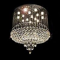 LEDシーリングライトペンダント照明K9クリスタルシャンデリアダブル階段ヴィラリビングルームラージシャンデリアクローム仕上げガラスドロップレット,銀,100 * 100