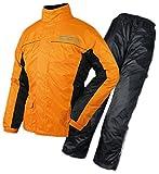 ラフアンドロード(ROUGH&ROAD) バイク用レインスーツ デュアルテックスBIBレインスーツ オレンジ L RR7806
