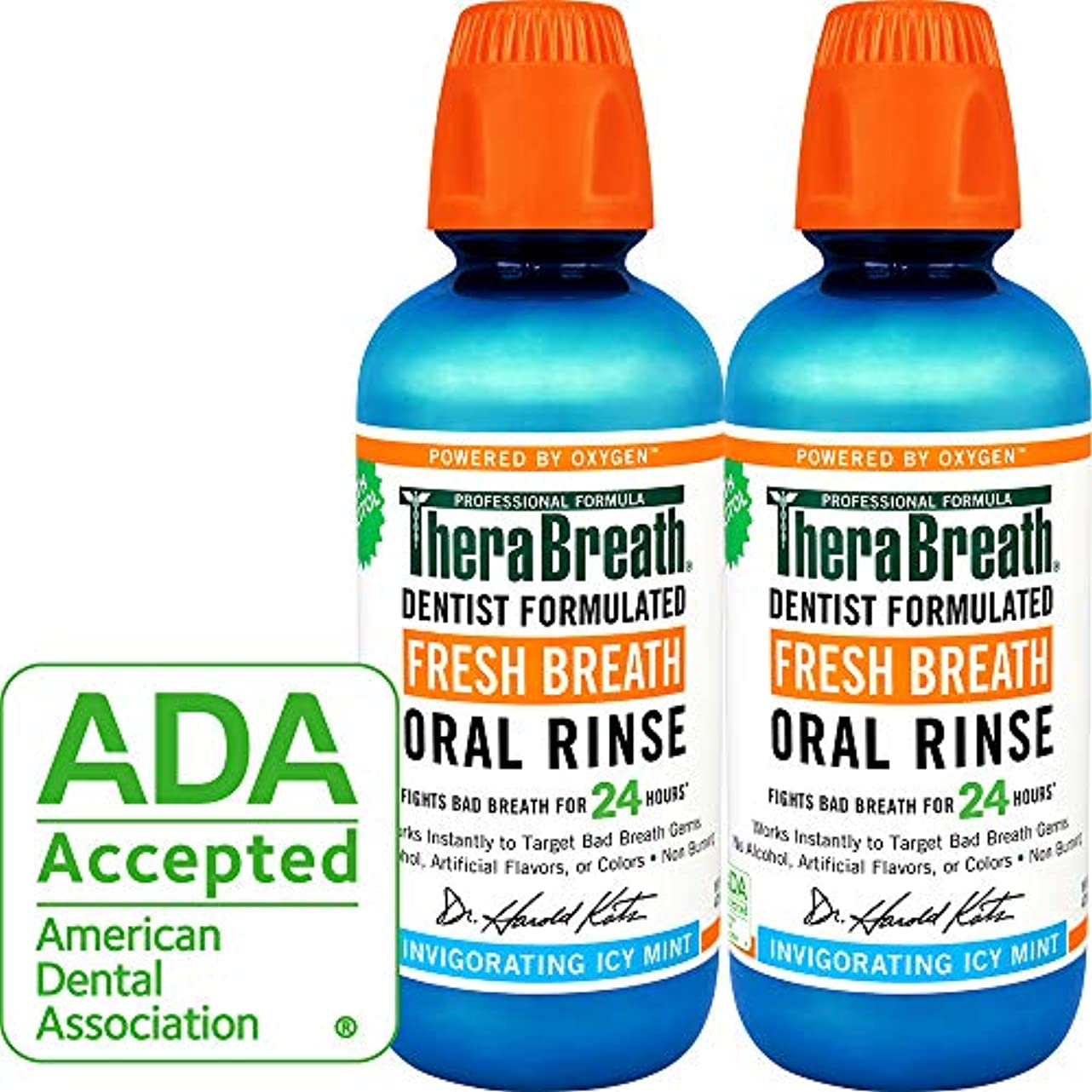 悲観主義者悪化する刺すThera Breath ORAL RINSEミントフレーバー 473ml 2本[並行輸入品]