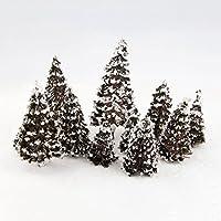 16本セット 大小混載 ジオラマ 模型 樹木 モデルツリー 木 森 材料 キット 鉄道 建物 ジオラマ 箱庭 風景 情景コレクションザ 教育 写真