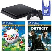 PlayStation 4 + New みんなのGOLF + Detroit: Become Human + オリジナルデザインエコバッグ セット (ジェット・ブラック) (CUH-2200AB01)