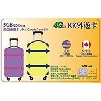 【KK】 アメリカ Wスタンバイカード(AT&T・T-Mobile) カナダ(Rogers) &日本(Docomo) 4G-LTE/3G 20日間 5GB データ通信 プリペイドSIMカード USA W・Stand-by 外遊カード