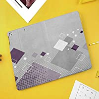 iPad Pro 10.5 ケーススタンド機能10.5インチ iPad Pro 保護カバー シンプル 二つ折タイプ 全面保護型 傷つけ防止 iPad Pro10.5手帳型ケース PU New iPad Pro 10.5 Case(iPad Pro 10.5)装飾的な異なる色の正方形のストライプの点線の菱形の幾何学的構成