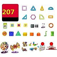 マグネット 磁石 磁気おもちゃ 207件 知育玩具 想像力と創造力を育てる 男の子 女の子 子供おもちゃ磁石ブロック キッズ 誕生日 クリスマス 新年 プレゼント DIY 積み木