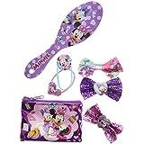 TownleyGirl Minnie Mouse Hair Set, Includes Hair Brush, Hair Bows, and Hair Clips, 7 CT