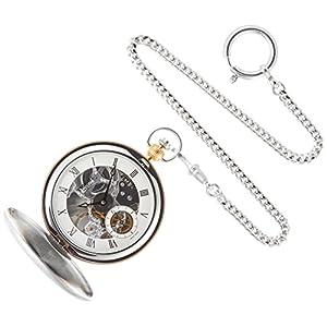 [ティソ]TISSOT ポケットウォッチ(懐中時計)ブリッジポート メカニカル スケルトン 手巻き ホワイト文字盤 チェーン付き T8594052927300 【正規輸入品】