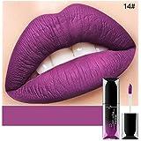 ACHICOO リップスティック 21色 ビロード なめなし 防水 液体 口紅 ラスティング 唇 メイクアップ ファッション 女性 セクシー 14#