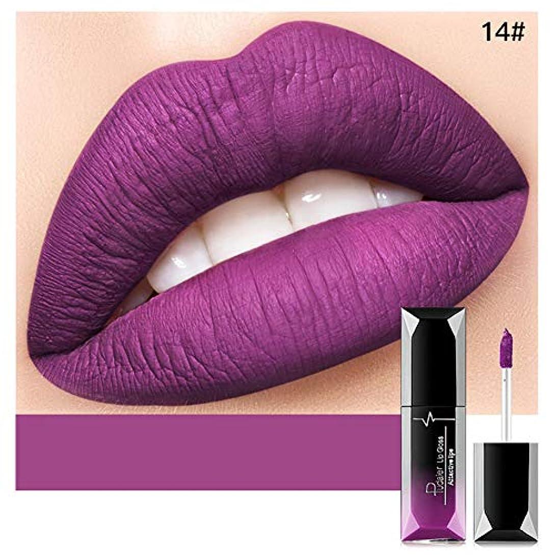 会計気分が悪いひねりACHICOO リップスティック 21色 ビロード なめなし 防水 液体 口紅 ラスティング 唇 メイクアップ ファッション 女性 セクシー 14#