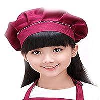 LOPNMEWQ 子供用の子供用のプレーンエプロンの料理ベイク用の子供用のビブ絵画帽子の袖口