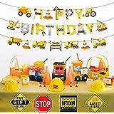 組み立て ハッピーバースデーバナー 子供 誕生日パーティー 建設装飾 掘削機 ブルドーザー トラック 吊り下げ ガーランド バナー