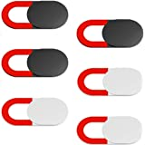 Webcam Cover,TERSELY 6-Pack Ultra Thin Design Webcam Cover Slide for Laptop, PC, MacBook Pro, iPhone, iPad, Smartphone, Prote
