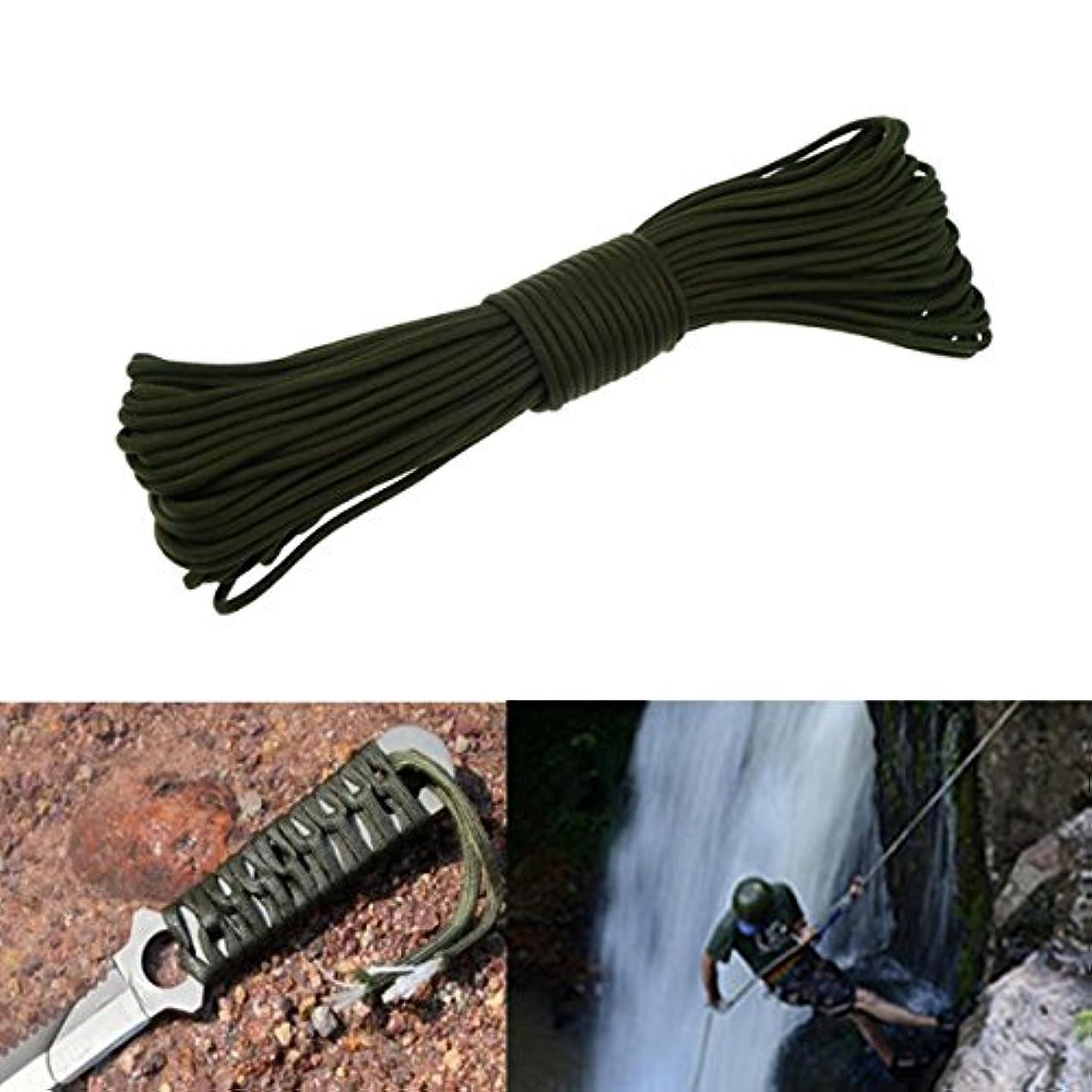 枠チャットジャベスウィルソンWinnerbe パラコード パラシュートランヤード 100フィート/30M 550ポンド 7ストランドコア 緊急用 アーミーグリーンロープ