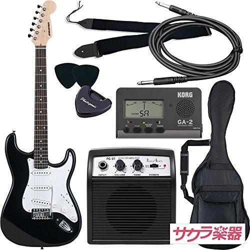 SELDER セルダー エレキギター ストラトキャスタータイプ ST-16/BK 初心者入門ベーシックセット