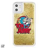 iPhone 11 ケース iPhone XR カバー トムとジェリー ラメが流れる 動く [ キラキラ ラメ グリッター ] 耐衝撃 衝撃吸収 [ PC TPU ソフト ハイブリッド ] かわいい おしゃれ ロゴ