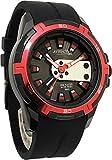 [シチズン Q&Q]腕時計 アトラクティブ ウレタンバンド アナログ メンズ ブラック×レッド DA54J502Y [並行輸入品]
