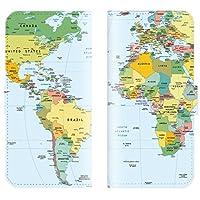 【 ankh 】 手帳型ケース 全機種対応 【 arrows M02/RM02 アロース エムゼロニ 専用】 地図 国旗 map 世界地図 図柄 おしゃれ 旅行 ヴィンテージ ブック型 二つ折り レザー 手帳カバー スマホケース スマートフォン