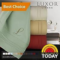 Luxor Linens Bella シーツ6点セット 竹製 California King ブラック
