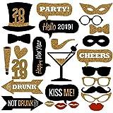 LULAA フォトプロップス 変装 写真撮影小道具  2019 誕生日 パーティー ウェディング 結婚式 宴会 二次会 盛り上げグッズ おしゃれ 26枚