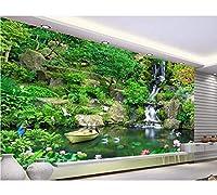 Weaeo モダンなHd 3D写真緑色の新鮮な壁紙クアトロームの壁紙ホームインテリアの壁紙ロールカスタムビニールの壁紙-200X140Cm