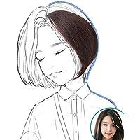 LANNA 前髪ウィッグ 長めサイド ポイントウィッグ 斜め前髪 自然 増量エクステ 部分ウィッグ 100%人毛 ウィッグ つけ毛 増毛部分かつら