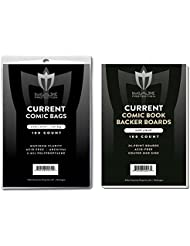 (500) Current Size Ultra Clear Comic Book Bags and Boards - by Max Pro (Qty= 500 Bags and 500 Boards)