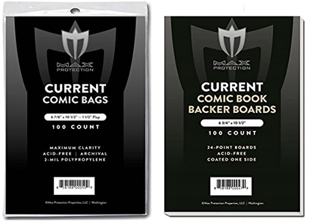 スリッパ赤道親愛な(500) Current Size Ultra Clear Comic Book Bags and Boards - by Max Pro (Qty= 500 Bags and 500 Boards)