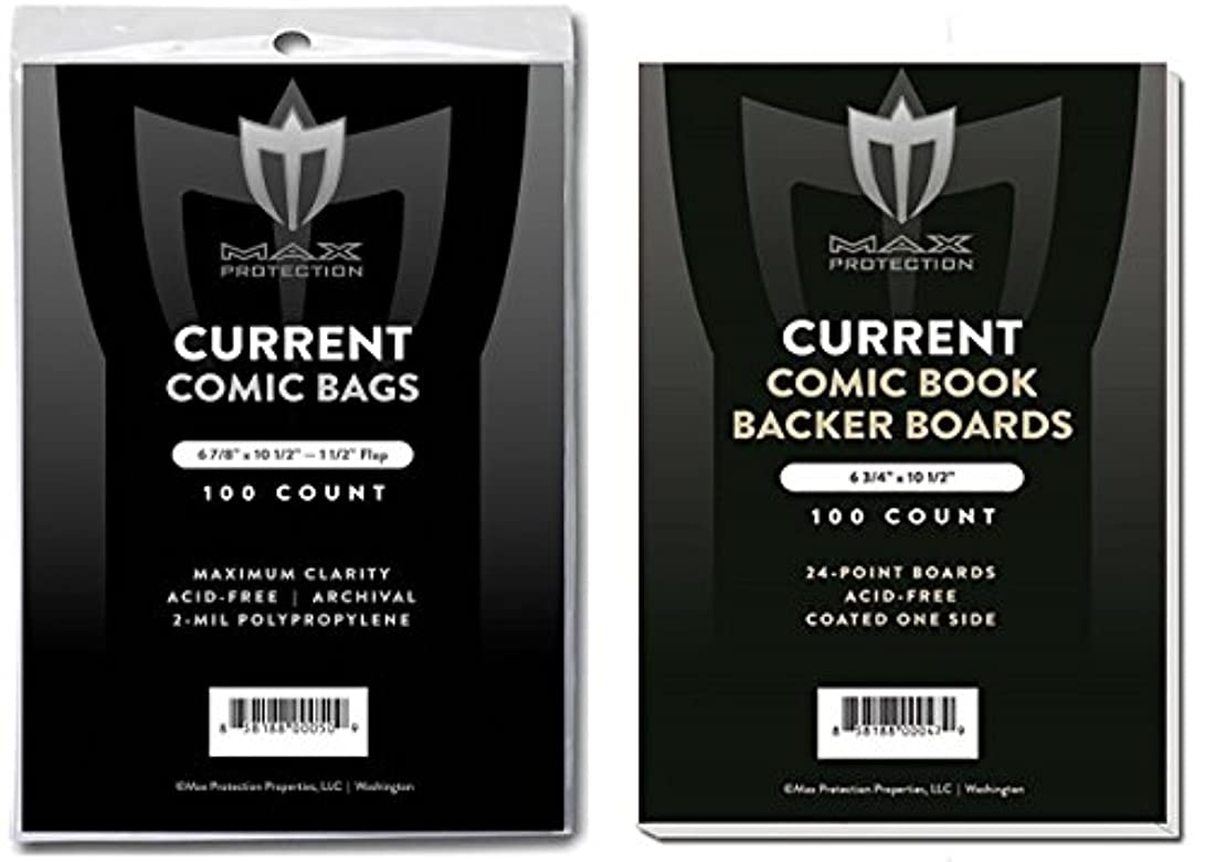 グリーンバック物質ソフィー(500) Current Size Ultra Clear Comic Book Bags and Boards - by Max Pro (Qty= 500 Bags and 500 Boards)