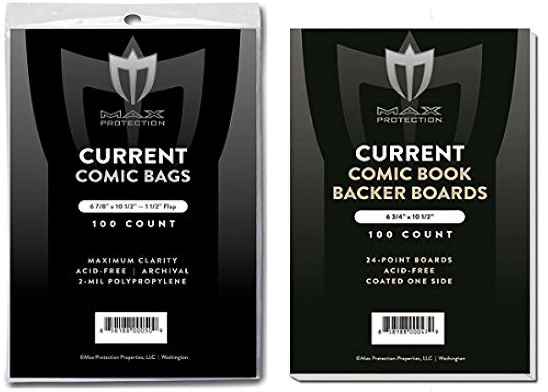 繕う誰か競う(500) Current Size Ultra Clear Comic Book Bags and Boards - by Max Pro (Qty= 500 Bags and 500 Boards)