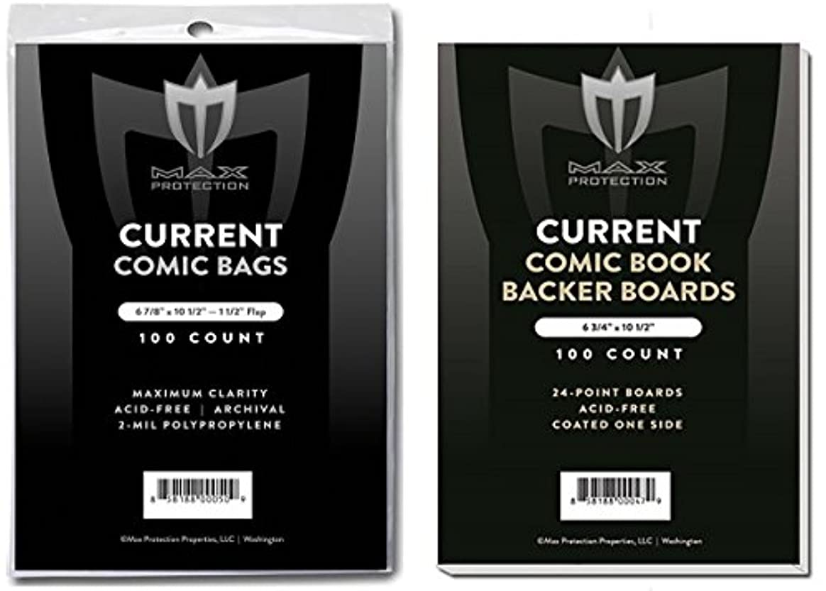 邪魔乱暴な無条件(500) Current Size Ultra Clear Comic Book Bags and Boards - by Max Pro (Qty= 500 Bags and 500 Boards)