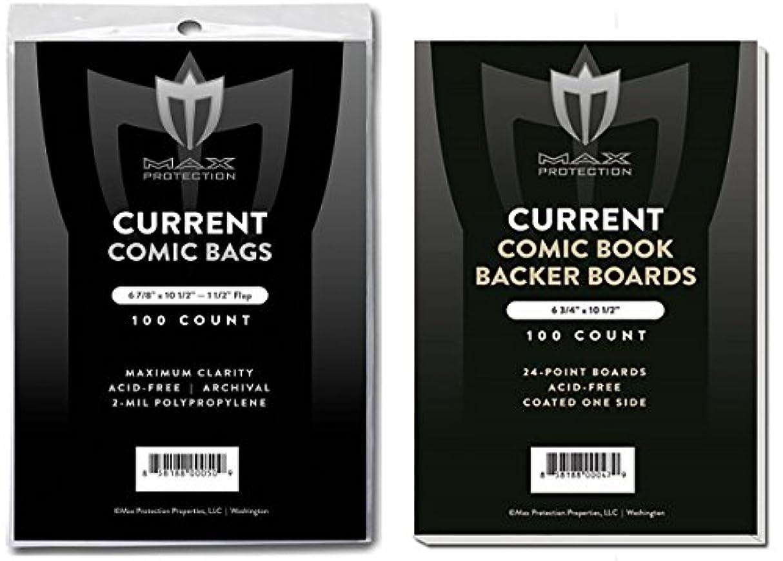 ラテン悪性の促す(500) Current Size Ultra Clear Comic Book Bags and Boards - by Max Pro (Qty= 500 Bags and 500 Boards)