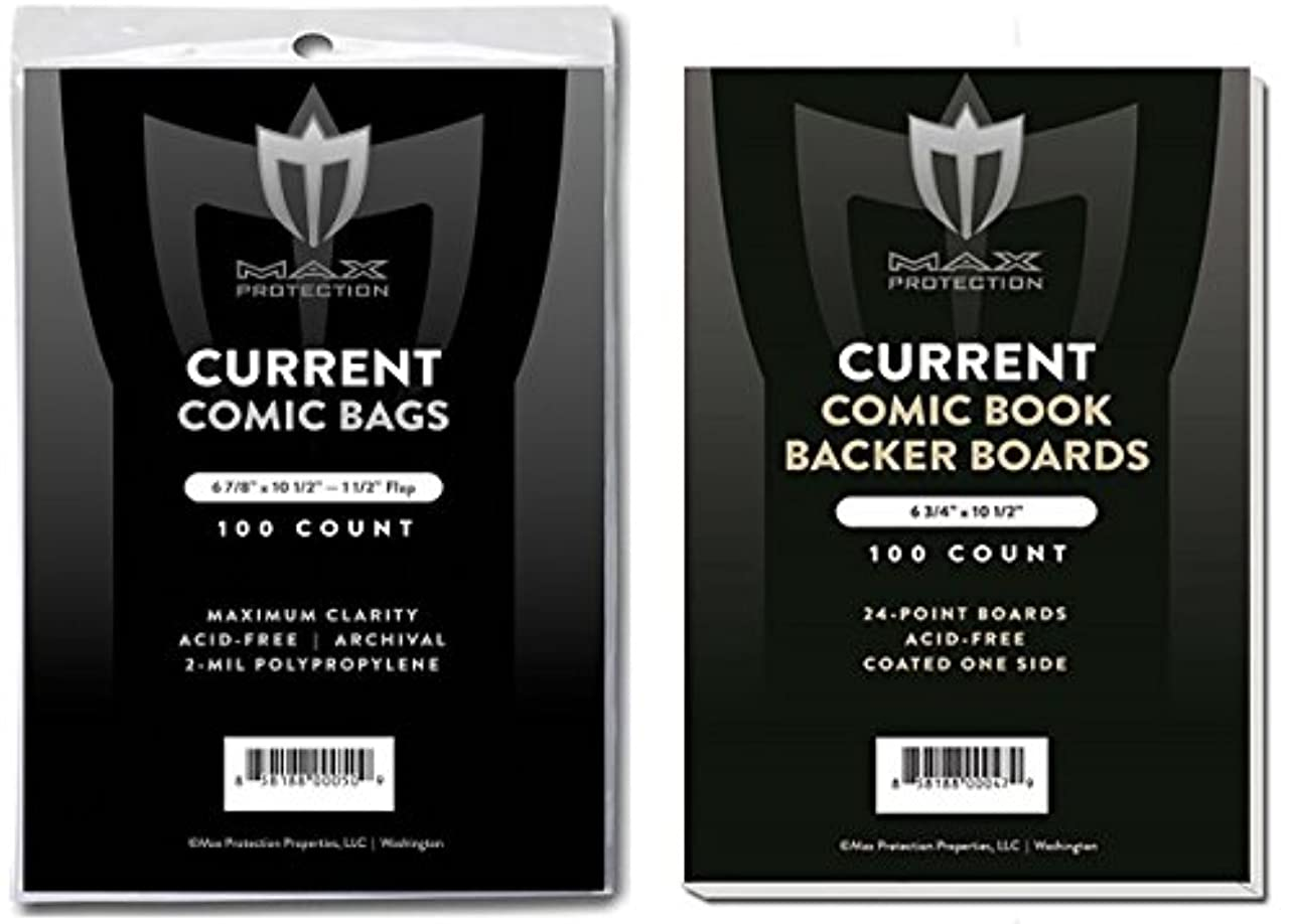メロディー心のこもった選択(500) Current Size Ultra Clear Comic Book Bags and Boards - by Max Pro (Qty= 500 Bags and 500 Boards)