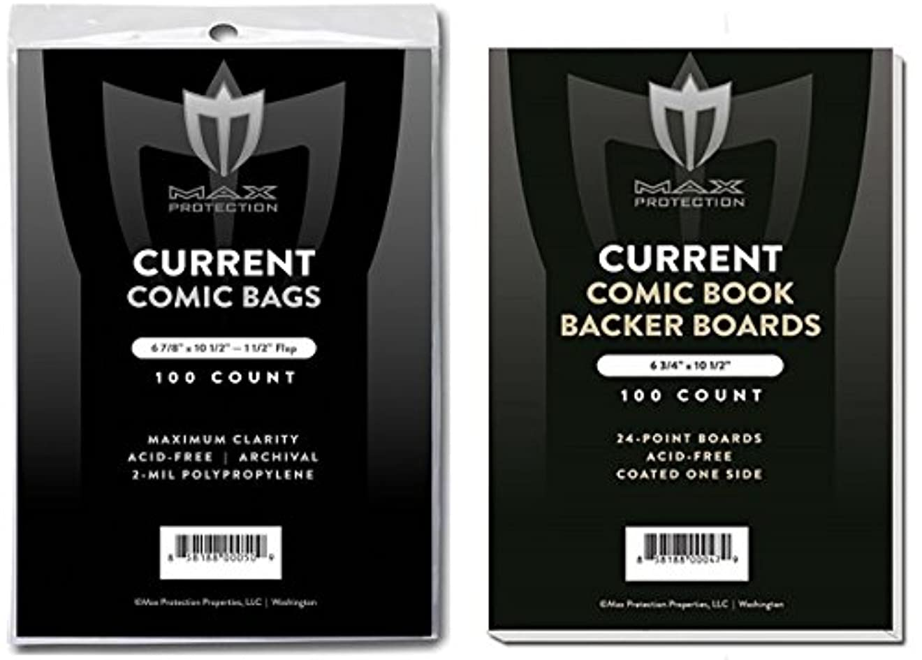 死の顎海洋処理する(500) Current Size Ultra Clear Comic Book Bags and Boards - by Max Pro (Qty= 500 Bags and 500 Boards)